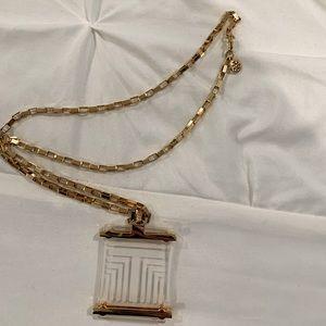 Tory Burch Pendant Drop Necklace
